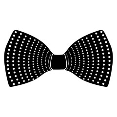 Hipster bowtie silhouette