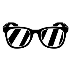 Hipster glasses silhouette