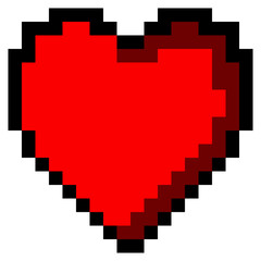 Isolated pixeled heart