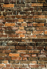 Very Textured Brick Wall Background Close Up