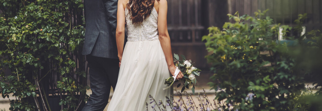 wedding, bride and groom together