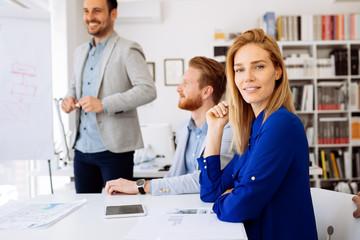Successful businesswoman in company
