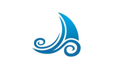 boat ocean art logo