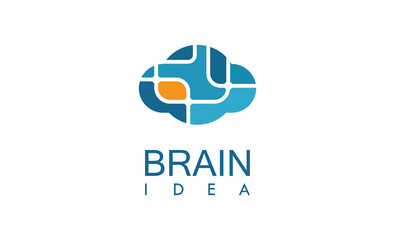 Brain idea logo