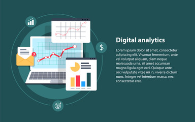 Digital analytics, Big data analysis, data science, market research, application