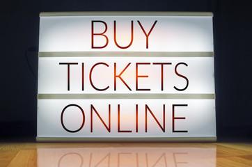 Buy tickets online lightbox