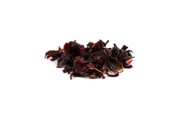 Heap of aromatic Hibiscus tea,