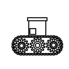 Box in conveyor icon vector illustration graphic design