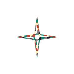 Muster Kreise Ecken - Kompass - Navigation