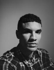 Dark Studio Portrait on Film