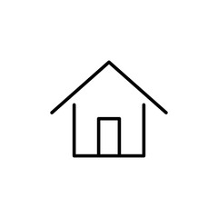 home house building line black icon