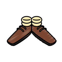 Funny shoes cartoon icon vector illustration graphic design