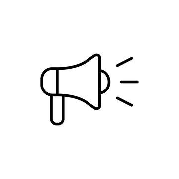 loudspeacker megaphone line black icon