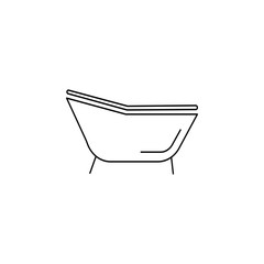 Single bathtub icon