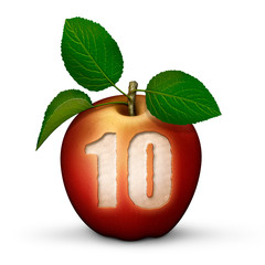 Apple with Number 10