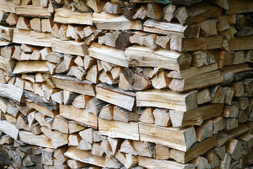 Poster Firewood texture stacking fire wood