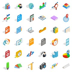 Design icons set, isometric style