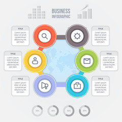 Business infographic design template with editable elements