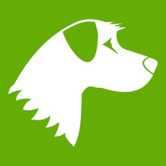 Dog icon green