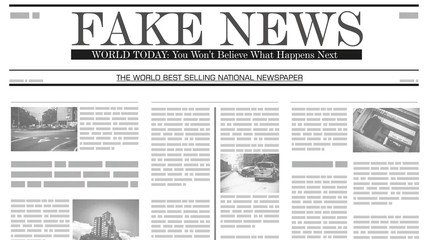 Front page of fake news newspaper