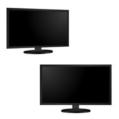 Blank of TV or computer monitor. Vector
