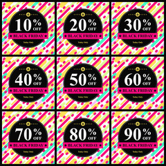 black friday discount sticker