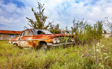 Junk Yard Car