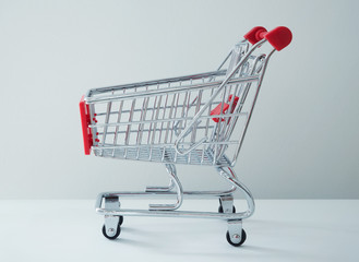 Shopping cart or trolley  on white background