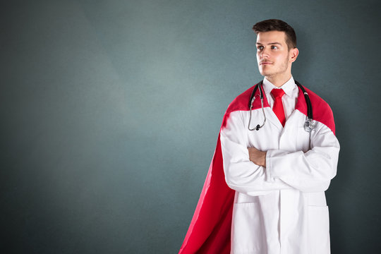 Portrait Of Superhero Doctor