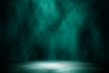 Spotlight blue stage design abstract background.