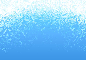 Winter blue ice frost background Wall mural
