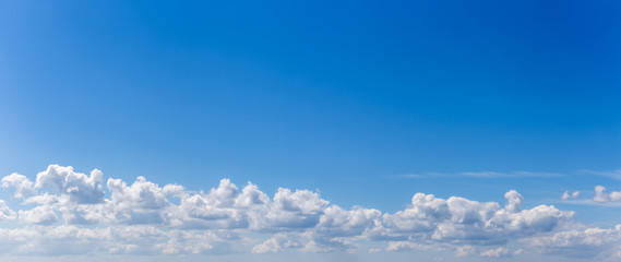 Canvas Prints Panorama or panoramic photo of blue sky and clouds or cloudscape.