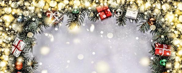 .Christmas frame. frame, champagne, gold star, gift,