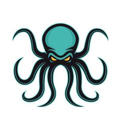 Octopus mascot logo