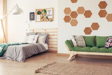 Cork in natural eco bedroom