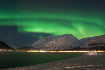 Aurora Borealis (The Northern Lights), Manndalen, Tromso - Norway