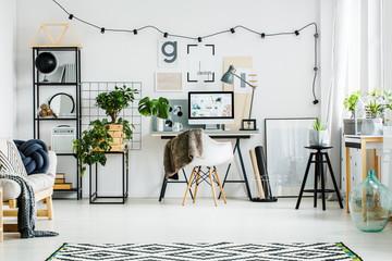 Modern home office with desktop