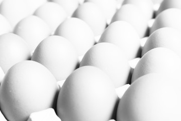 Vintage white light Fresh organic eggs