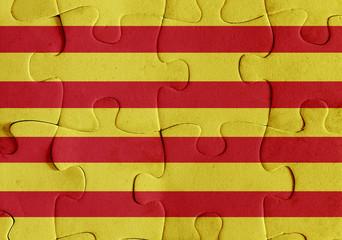 Catalonia flag puzzle