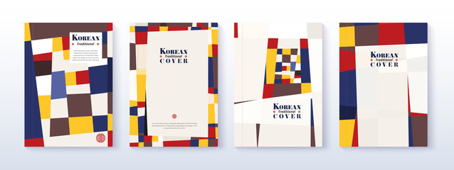 Korean traditional cover design. abstract traditional book and annual report design. vector illustration.