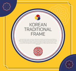 a9a06d5c2c1 Korean traditional circle frame design. vector illustration.