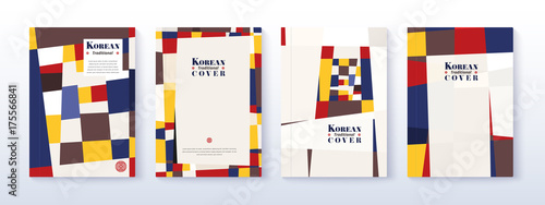 868ca9d7d4d Korean traditional cover design. abstract traditional book and annual  report design. vector illustration.