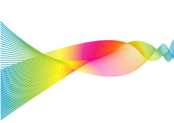 vector abstract rainbow multi colorful wave lines background