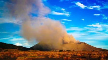 Eruption of Tavurvur volcano at Rabaul, New Britain island, Papua New Guinea