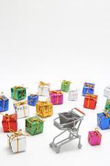 プレゼントとショッピングカート