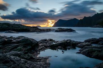 Sonnenuntergang in den Lofoten