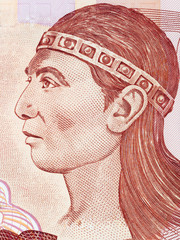 Lempira (Lenca ruler) portrait from Honduran money