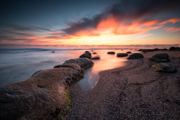 Beauty of dawn / Magnificent sunrise view at the Black sea coast, Bulgaria