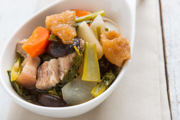 Chinese vegetable stew, mixture of vegetables and pork