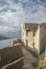 Kotor Fortress Ruins Overlooking the Bay